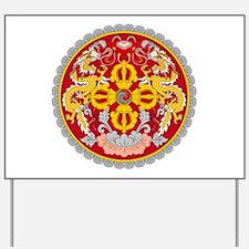 Bhutan Coat of Arms Yard Sign