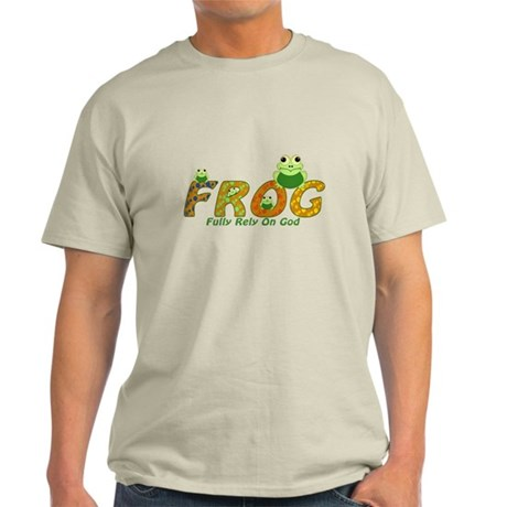 Frog Fully Rely On God Light T-Shirt