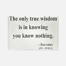 Socrates 3 Rectangle Magnet