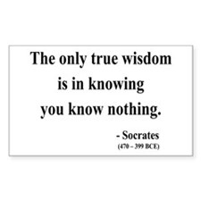 Socrates 3 Rectangle Decal