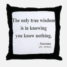 Socrates 3 Throw Pillow
