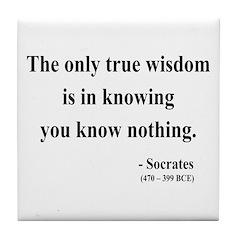 Socrates 3 Tile Coaster