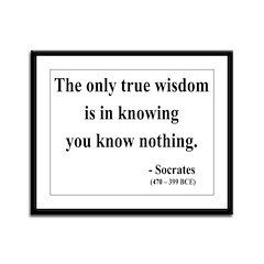 Socrates 3 Framed Panel Print
