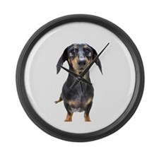 Crying Doxie Large Wall Clock