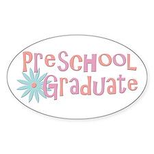 Preschool Graduation Oval Decal