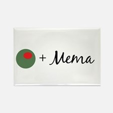 Olive Mema Rectangle Magnet