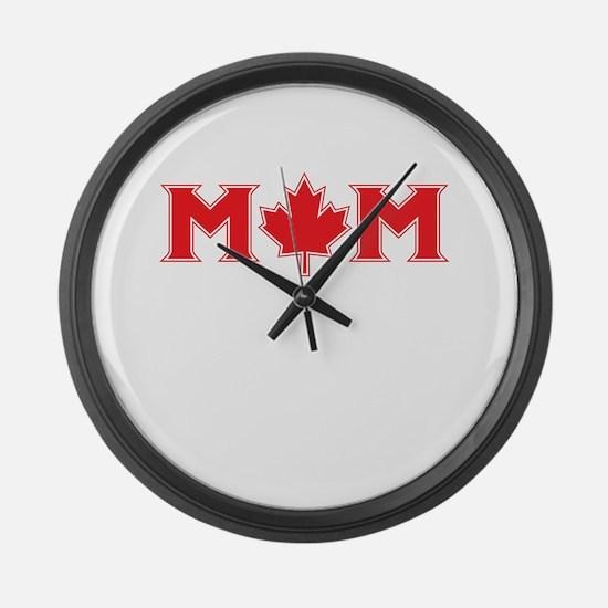 Canadian Mom Large Wall Clock