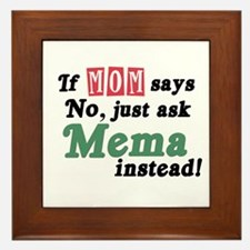 Just Ask Mema Framed Tile