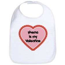Mema is My Valentine Bib