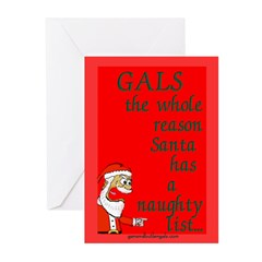 Naughty Greeting Cards (Pk of 10)