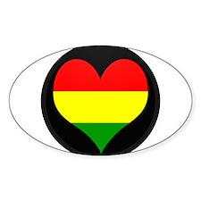 I love Bolivia Flag Oval Decal
