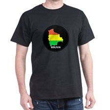 Flag Map of Bolivia T-Shirt