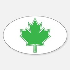 Canada Goes Green Oval Decal