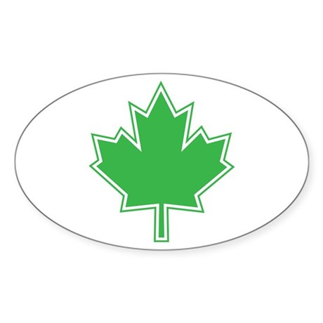 Canada Goes Green Oval Sticker
