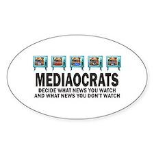 Mediacrats Oval Decal