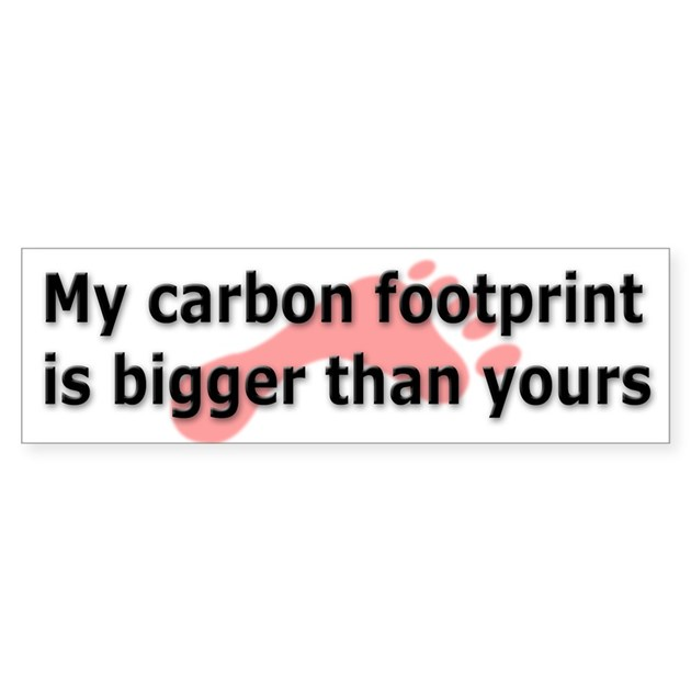 my carbon footprint Writing a blog about reducing your carbon footprint is much, much easier than actually cutting your footprint this post is where the rubber meets the road.