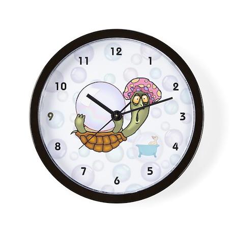 Crazy Turtle Bathtime Wall Clock
