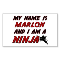 my name is marlon and i am a ninja Decal