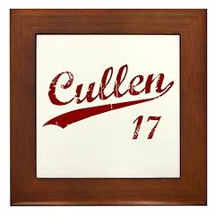 Cullen Baseball 17 Framed Tile