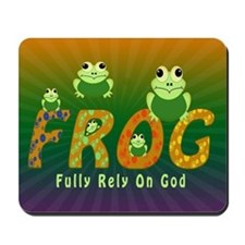Frog Fully Rely On God Mousepad