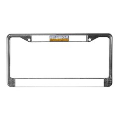 Vote Democrat License Plate Frame