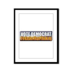 Vote Democrat Framed Panel Print