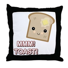 MMM! Toast Throw Pillow