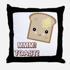 MMM! Toast Throw Pillow