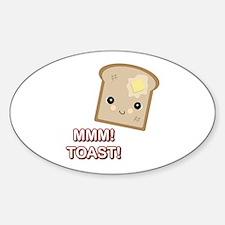 MMM! Toast Oval Decal