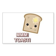 MMM! Toast Rectangle Decal