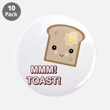 """MMM! Toast 3.5"""" Button (10 pack)"""