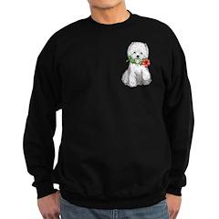 Westie with Flower Sweatshirt