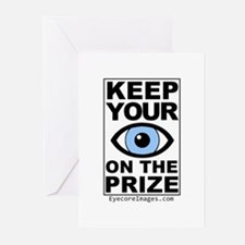 KEEP YOUR EYE ON THE PRIZE Greeting Cards (Pk of 2