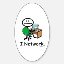 BusyBodies Computer Networking Oval Decal