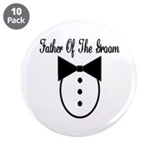 """Father of the Groom 3.5"""" Button (10 pack)"""