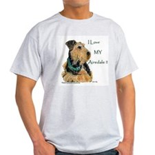 Love my Airedale Ash Grey T-Shirt