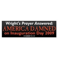 Wright's Prayer Answered Bumper Bumper Sticker