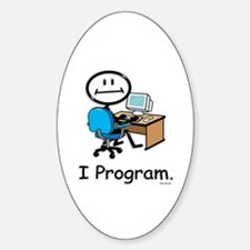 BusyBodies Computer Programmer Oval Decal