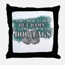 I don't mean to brag but... Throw Pillow
