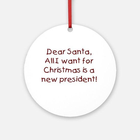 Anti-Bush Dear Santa Ornament (Round)