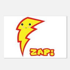 Cute Zap Comic Lightning Bolt Postcards (Package o