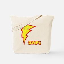 Cute Zap Comic Lightning Bolt Tote Bag