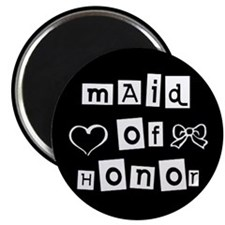 Maid of Honor (black) Magnet