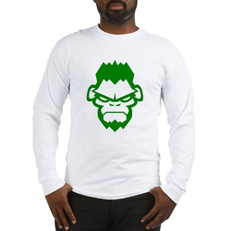Gorilla Grappling Face Straight Long Sleeve T-Shir