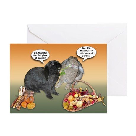 Bunny Thanksgiving Greeting Card