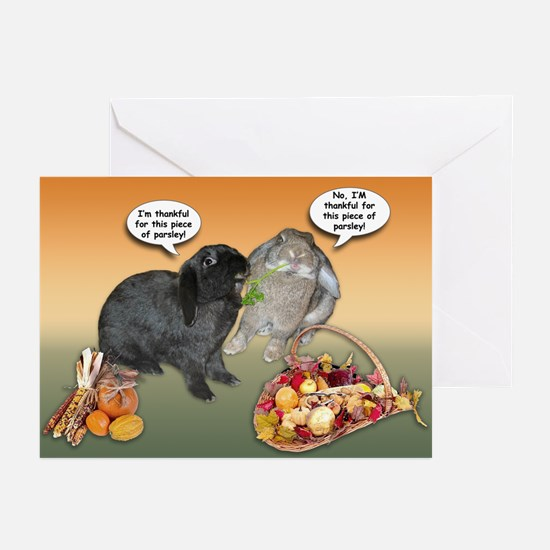 Bunny Thanksgiving Greeting Cards (Pk of 10)