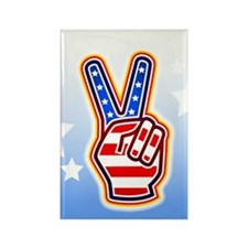 """""""Peace Sign"""" Rectangle Magnet"""