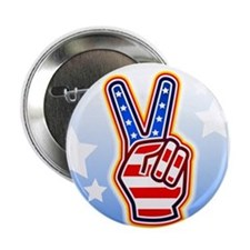 """""""Peace Sign"""" 2.25"""" Button"""