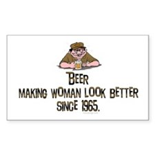 Beer, making women.. Rectangle Decal