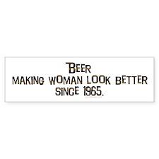 Beer, making women.. Bumper Bumper Sticker